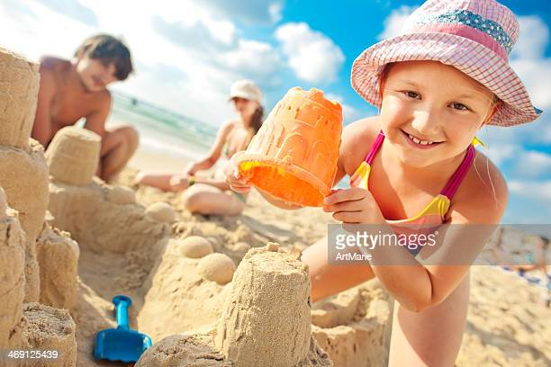Building a sand castle