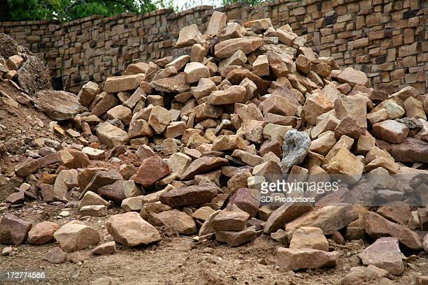 building a wall - rubble stock pictures, royalty-free photos & images