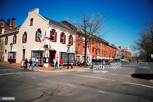 Building along the street, Old Town, Alexandria, Virginia, USA