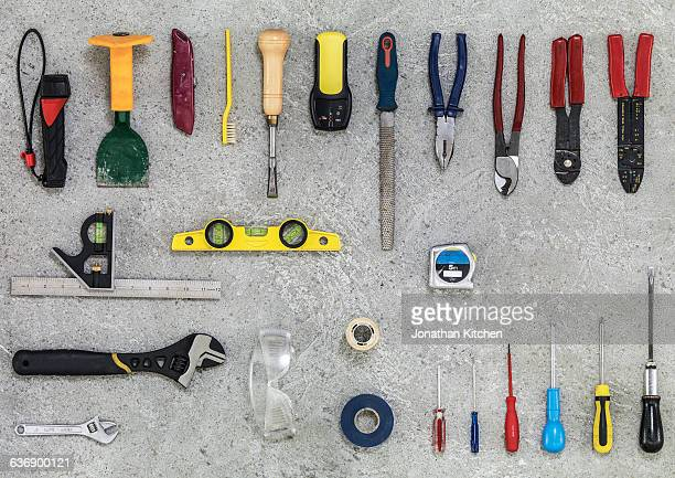 building and maintenance tools 1 - essentials collection stock pictures, royalty-free photos & images