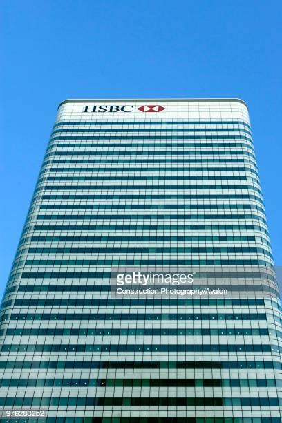 Building architecture HSBC tower Canary Wharf Docklands London UK