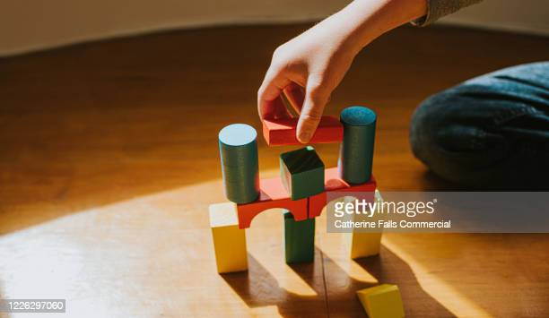 building block bridge - toy stock pictures, royalty-free photos & images