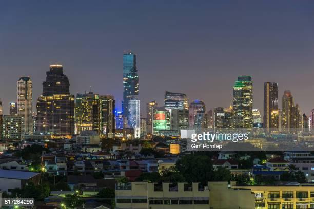 Building blocks in Bangkok business district
