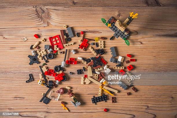 building blocks,lego on the wood table
