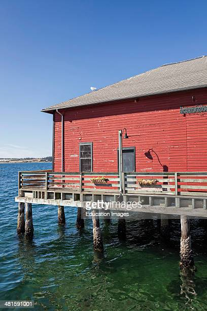 Building built on a pier Whidbey Island Puget Sound Washington