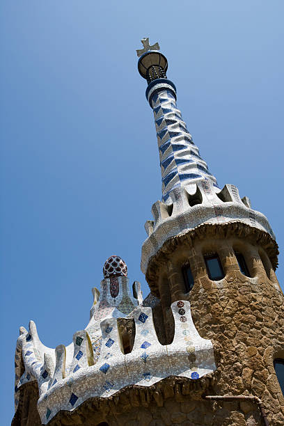 Building by Antoni Gaudi in Park Guell