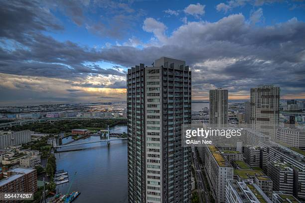 building by the river - nee nee stock photos and pictures