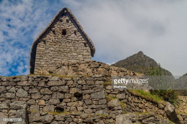 building called guardhouse at machu picchu