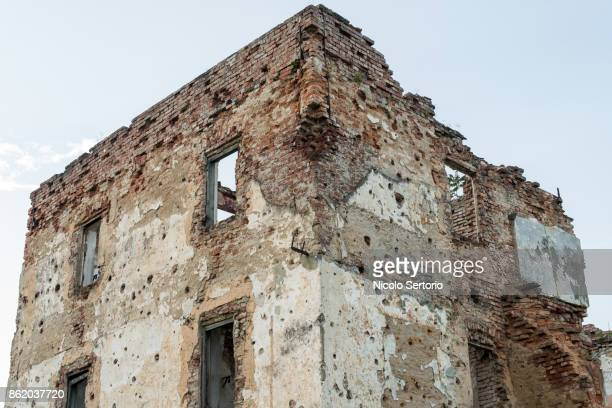 Building completely destroyed during the Homeland war in Croatia