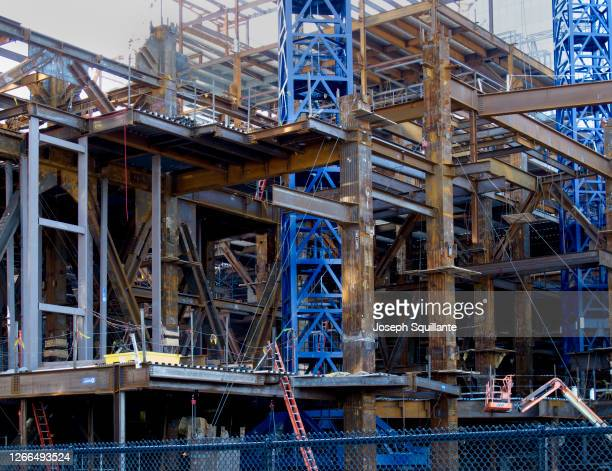 building construction colored girders - joseph squillante stock pictures, royalty-free photos & images
