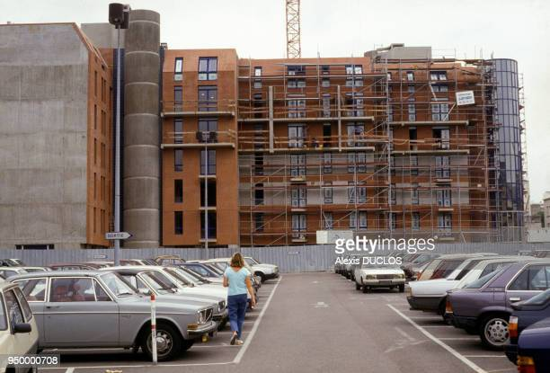 Building construction in the context of the renovation of the Ilot Chalon near the Gare de Lyon in September 1987 in Paris France