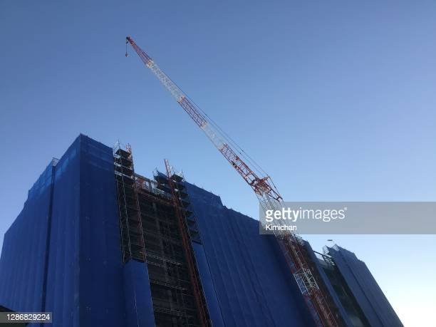 building construction site crane