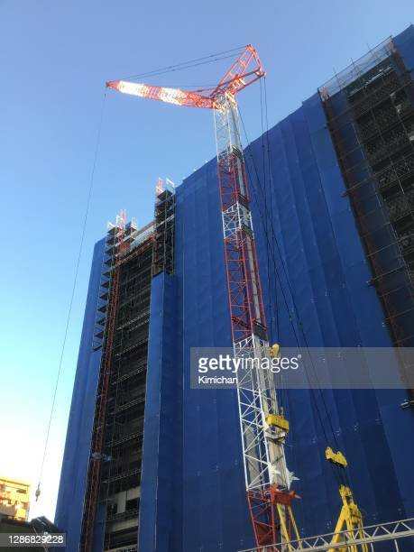 building construction site crane
