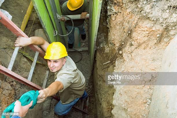 Building Contractors Working Underground