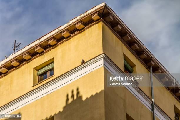 building corner - casa stockfoto's en -beelden
