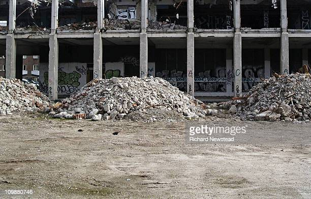 building demolition - rubble stock pictures, royalty-free photos & images