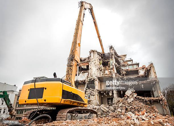building demolition - demolishing stock pictures, royalty-free photos & images