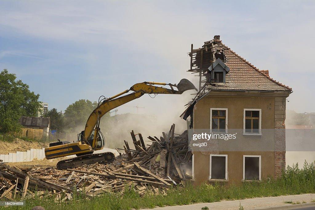 Building Demolition : Stock Photo