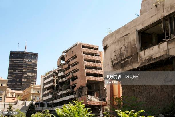 Building destroyed by Nato bombing in 1999