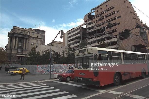 Building destroyed by NATO bombing.