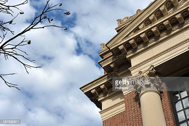 building detail - ivy league university stock photos and pictures