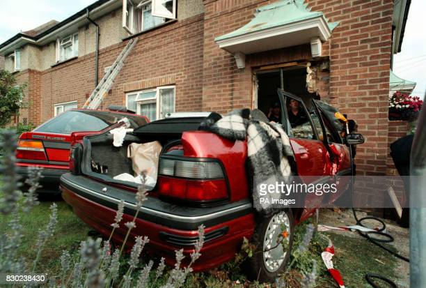 Building experts check the property in Downland Drive after a car containing three elderly women ploughed through the front door of a flat Emergency...