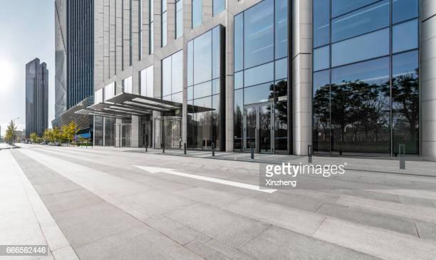 Building exterior, parking lot