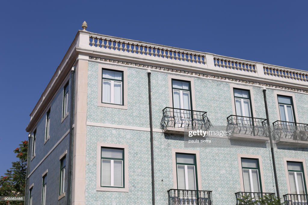 Building Facade With Ceramic Tiles Stock Photo Getty Images