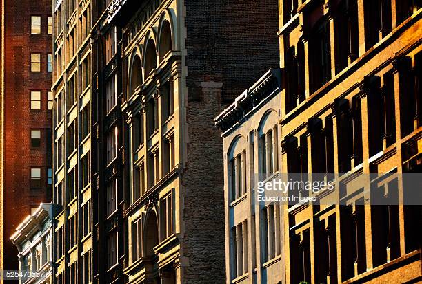Building Facades in late day sun New York City