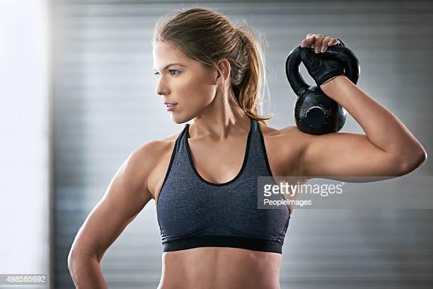 Building her upper body strength