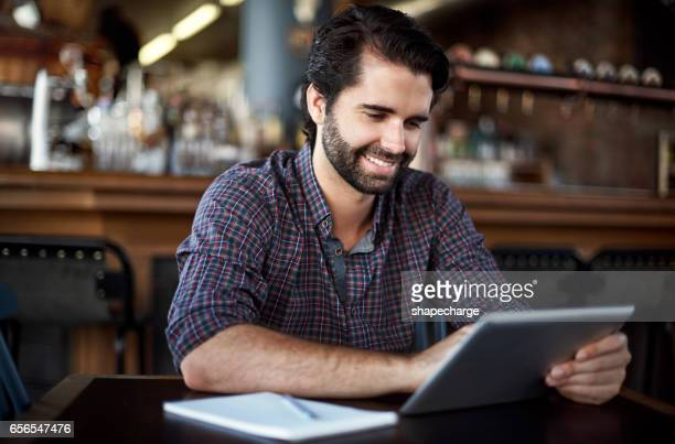 building his bar's brand with online marketing - digital marketing foto e immagini stock