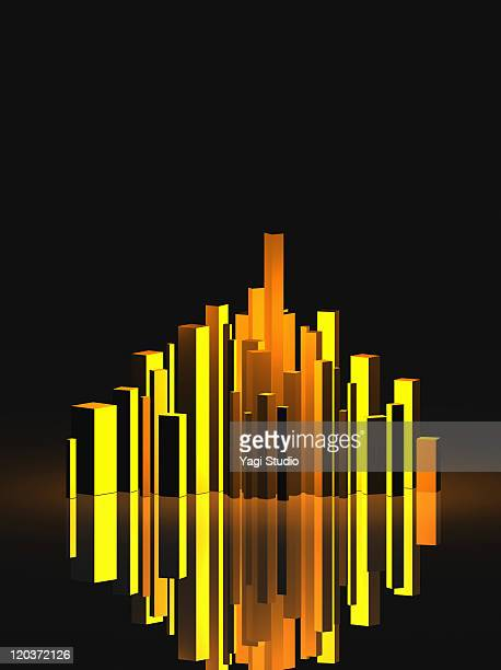 a building image by the 3d rendering - bar graph stock pictures, royalty-free photos & images