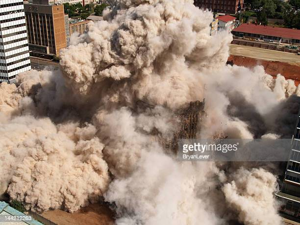 building implosion in downtown johannesburg, south africa - demolishing stock pictures, royalty-free photos & images