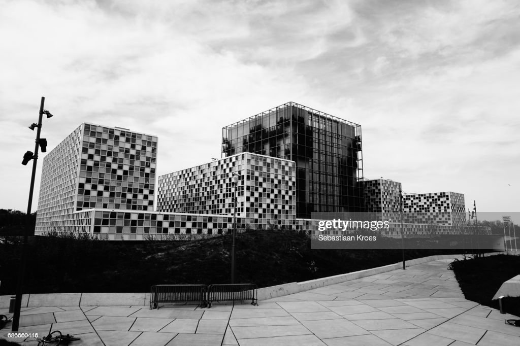 ICC Building in Black and White, the Hague, the Netherlands : ストックフォト