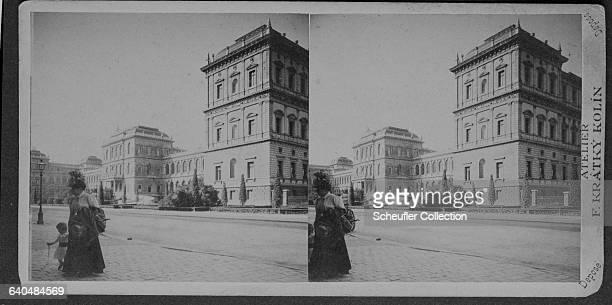 A building in Munich Germany housing the studio of photographer F Kratky Kolin ca 18901900