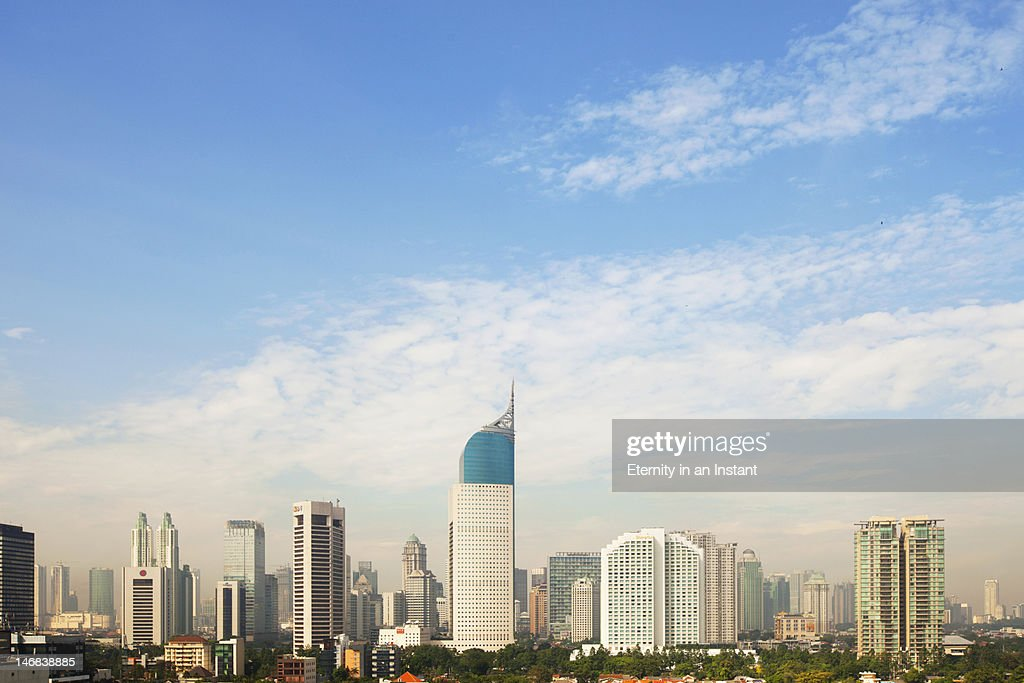 BNI building in the Business district of Jakarta : Stock Photo