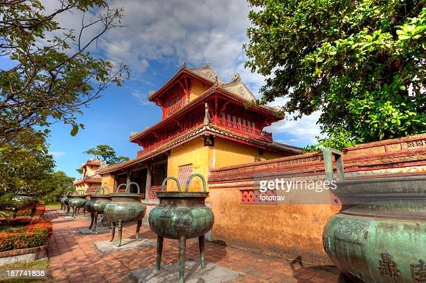building in the imperial city of hue, vietnam - royalty stock pictures, royalty-free photos & images