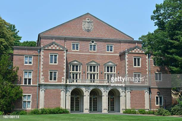 building in wellesley college - wellesley massachusetts stock pictures, royalty-free photos & images