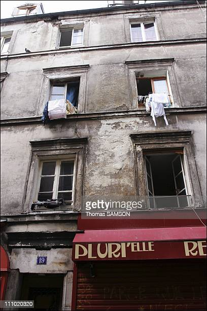 Building inspections unsanitary Jean Moinon street Paris by the Group technical inspection established by the Prefecture of Paris in Paris France on...