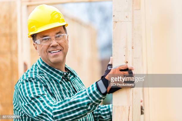 Building inspector at job site