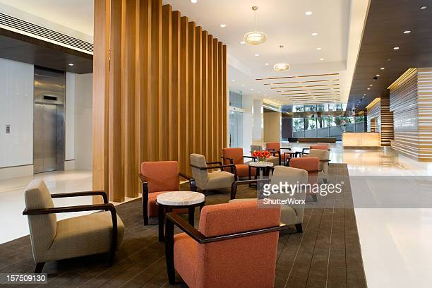 building lobby - hotel lobby stock pictures, royalty-free photos & images