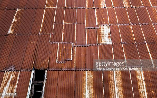Building Made Of Corrugated Iron Sheets