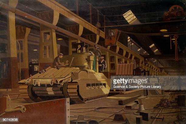 Building Matilda Tanks at Horwich c 1940s Building Matilda Tanks at Horwich c 1940s From the London Midland and Scottish Railways at War series Oil...
