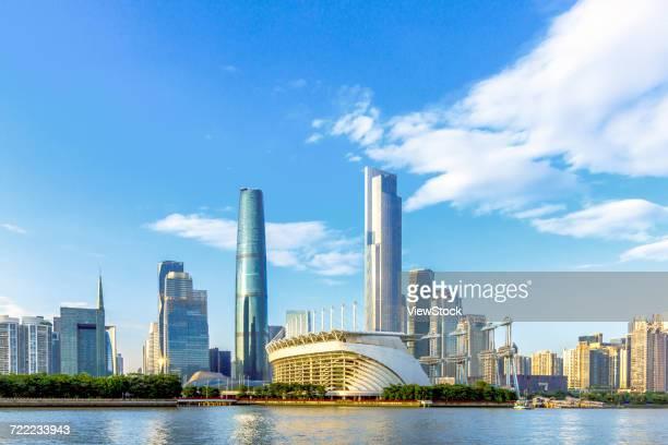 building of guangzhou city,guangdong province,china - tianhe stadion stock-fotos und bilder