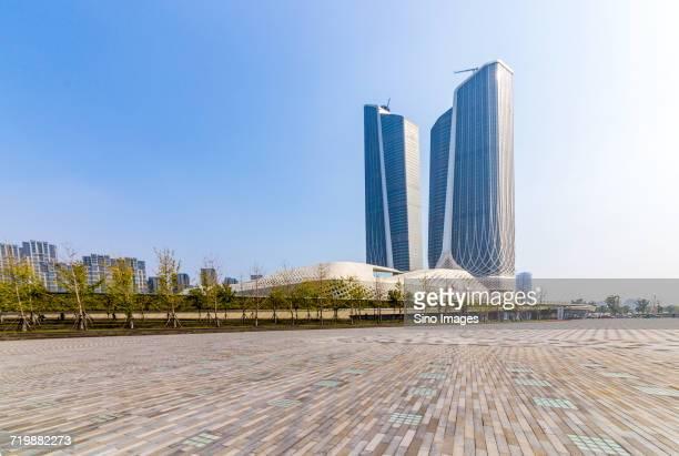 building of nanjing youth olympic center / nanjing, jiangsu, china - nanjing stock pictures, royalty-free photos & images