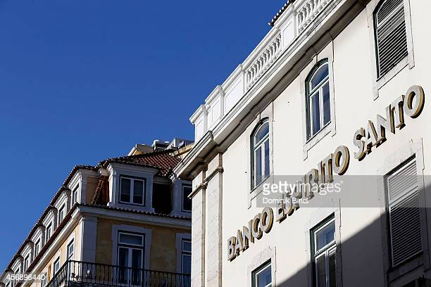 Building of portuguese Bank Banco espirito santo now called Novo Banco on August 28 2014 in Lisbon Portugal