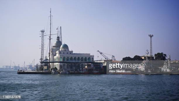 building of suez canal authority in port said, egypt - port said stock pictures, royalty-free photos & images