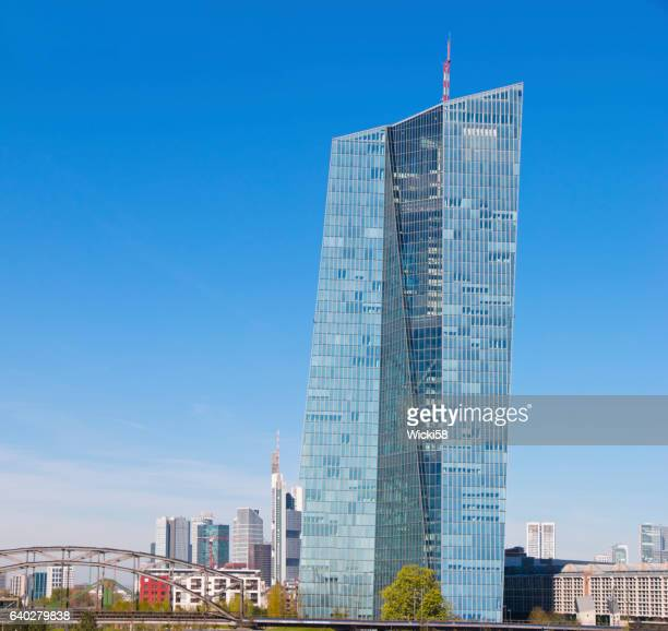 building of the european central bank frankfurt germany - seat of the european central bank stock photos and pictures