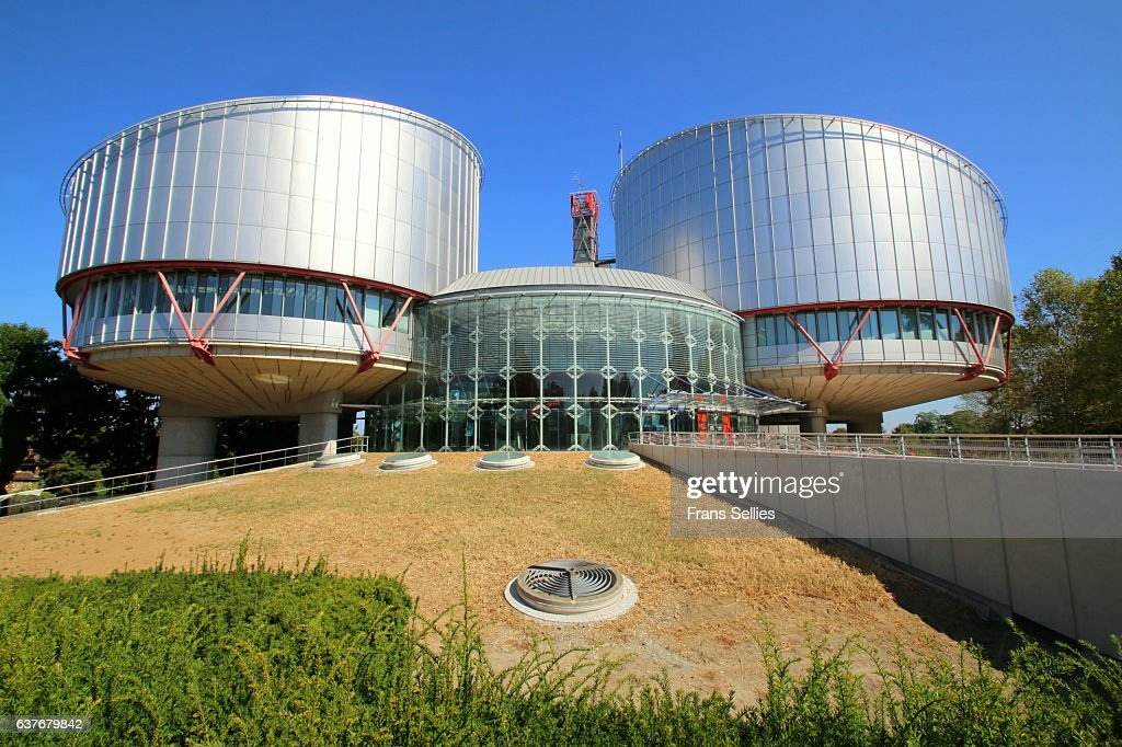 Building of the European Court of Human Rights at Strasbourg : Stockfoto