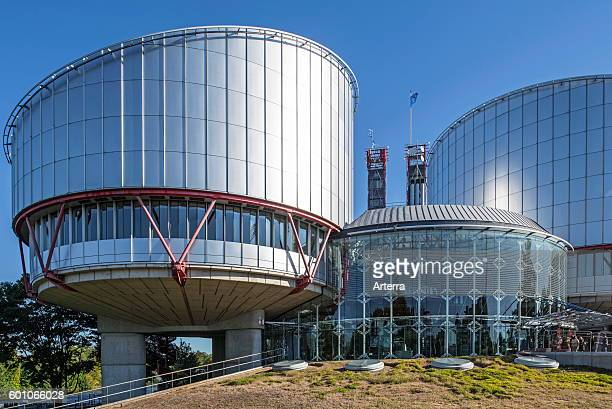 Building of the European Court of Human Rights / ECtHR at Strasbourg France